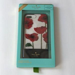 Kate Spade iPhone Poppy 7+ 8+ Phone Case • nwt